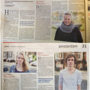 Het Parool interviews two Dutch delegates