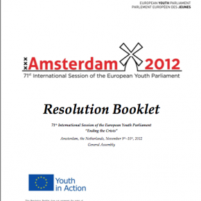 Resolution booklet Amsterdam2012